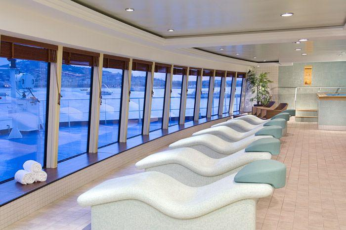 Norwegian Jewel - Norwegian Cruise Lines - wellness centrum s výhledem ven