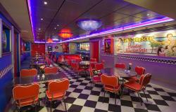 Pride of America - Norwegian Cruise Lines - retro restaurace Cadillac Diner ve stylu amerických 50. let
