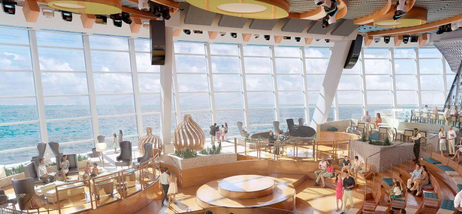 Anthem of the Seas - Royal Caribbean International - krásný výhled z lodi