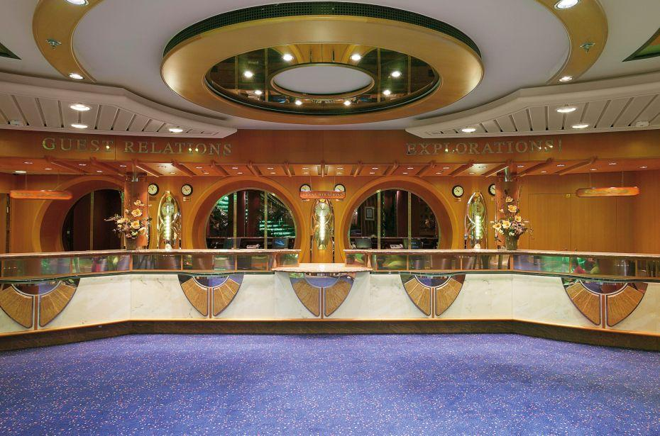 Jewel of the Seas - Royal Caribbean International - recepce na lodi